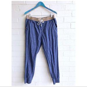 UO Koto Men's Chambray Khaki Jogger Pants